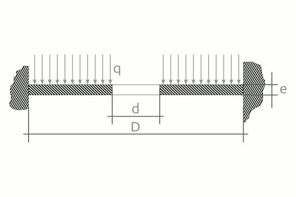 Cálculo mecánico de discos de orificio. Esquema 1.
